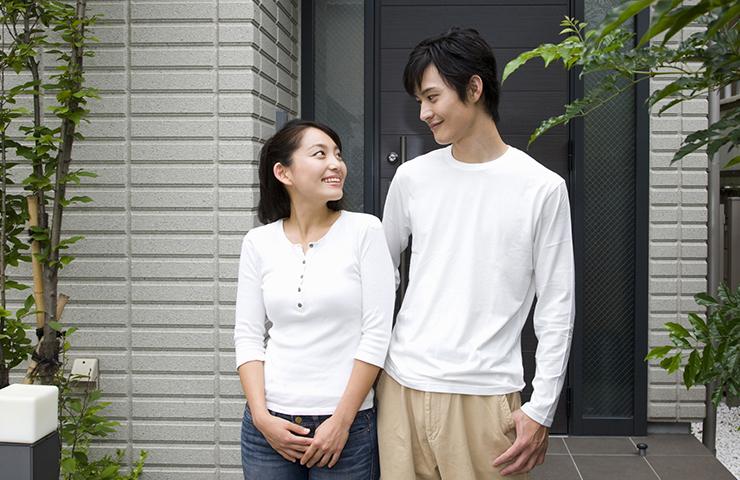 玄関と夫婦