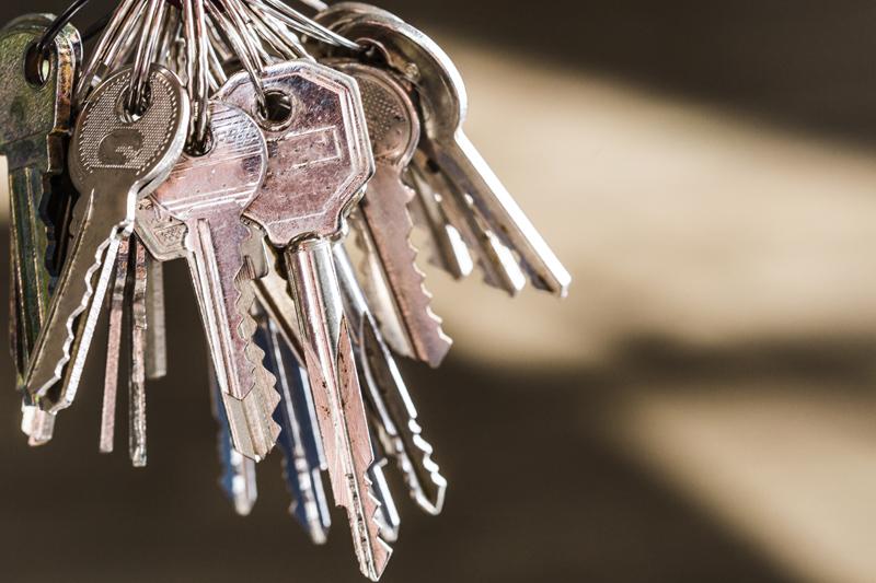 様々な種類の鍵