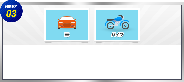 対応場所03 クルマ バイク